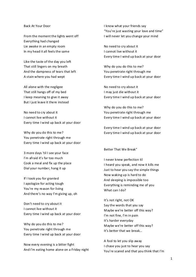 Lirik lagu say you re just a friend