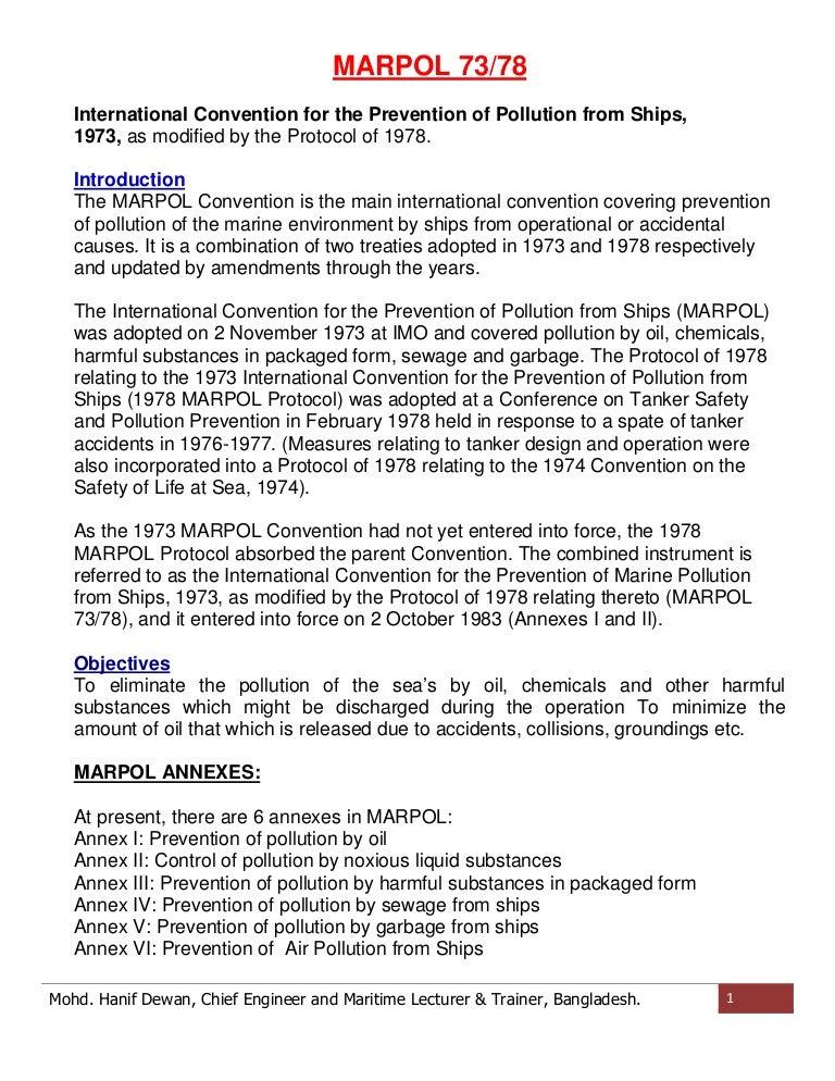 Marpol Convention Pdf