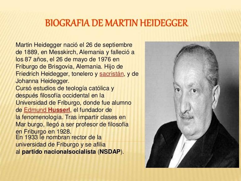 Martin Heidegger En Educagratis
