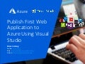 Cloud: Publish First Web Application to Azure Using Visual Studio