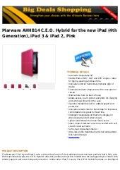 Marware ahhb14 c.e.o. hybrid for the new i pad (4th generation), ipad 3 & ipad 2, pink