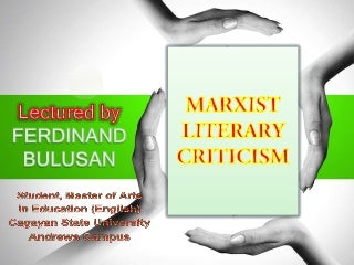 Marxist criticism presentation