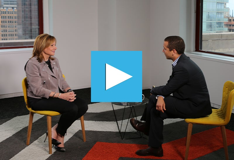 "CEO of GM Mary Barra on Electric Cars: ""We Want to Lead"""