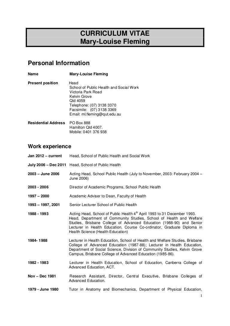 Phd resume for applying to a phd program