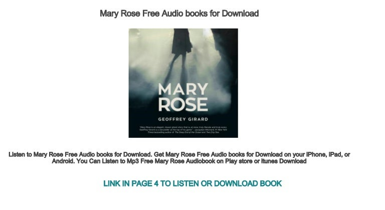 Mary Rose Free Audio books for Download