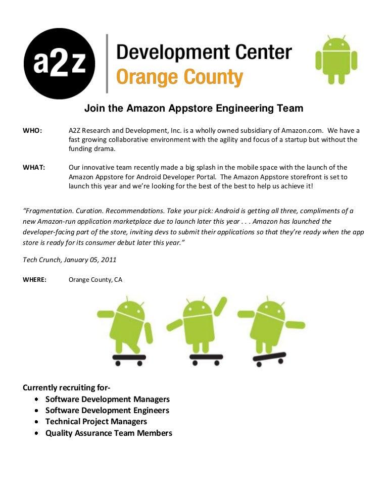 A2z Development Open Positions