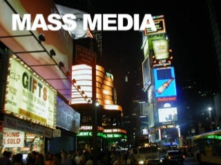 Mass Media vs. User-Generated Content