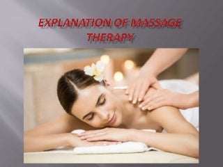 Explanation of Massage Therapy - Massage Center in Dubai