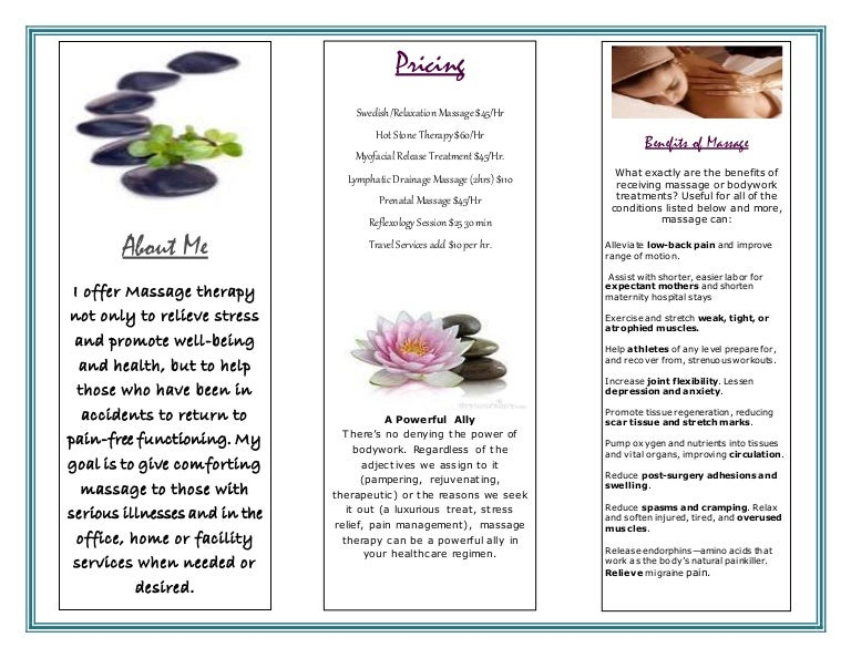 Massage Brochure Page