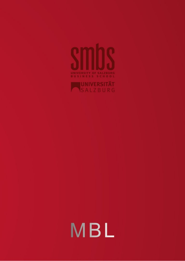Master of Business LAW MBL - SMBS University of Salzburg Business Sch…