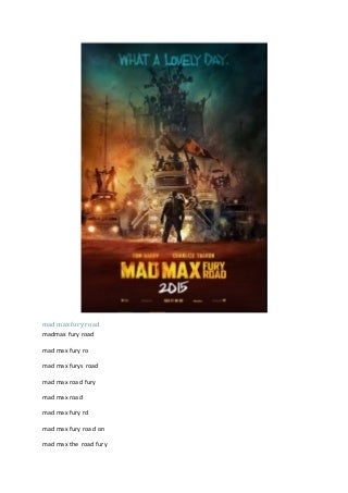 mad max fury road imdb