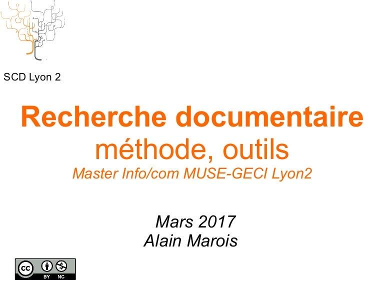 Recherche Documentaire Méthode Outils Master Info Com