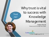 Why trust is vital to success with Knowledge Management