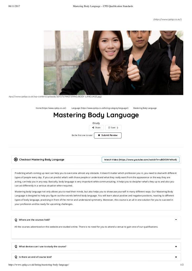 body language uk