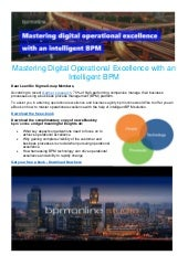 Mastering digital operational excellence with an intelligent bpm