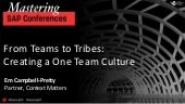 From Teams to Tribes: Creating a One Team Culture
