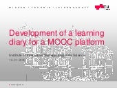Development of a learning diary for a MOOC platform