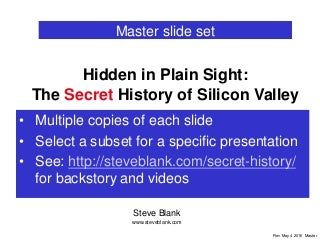 Secret History of Silicon Valley - Master Slide Deck