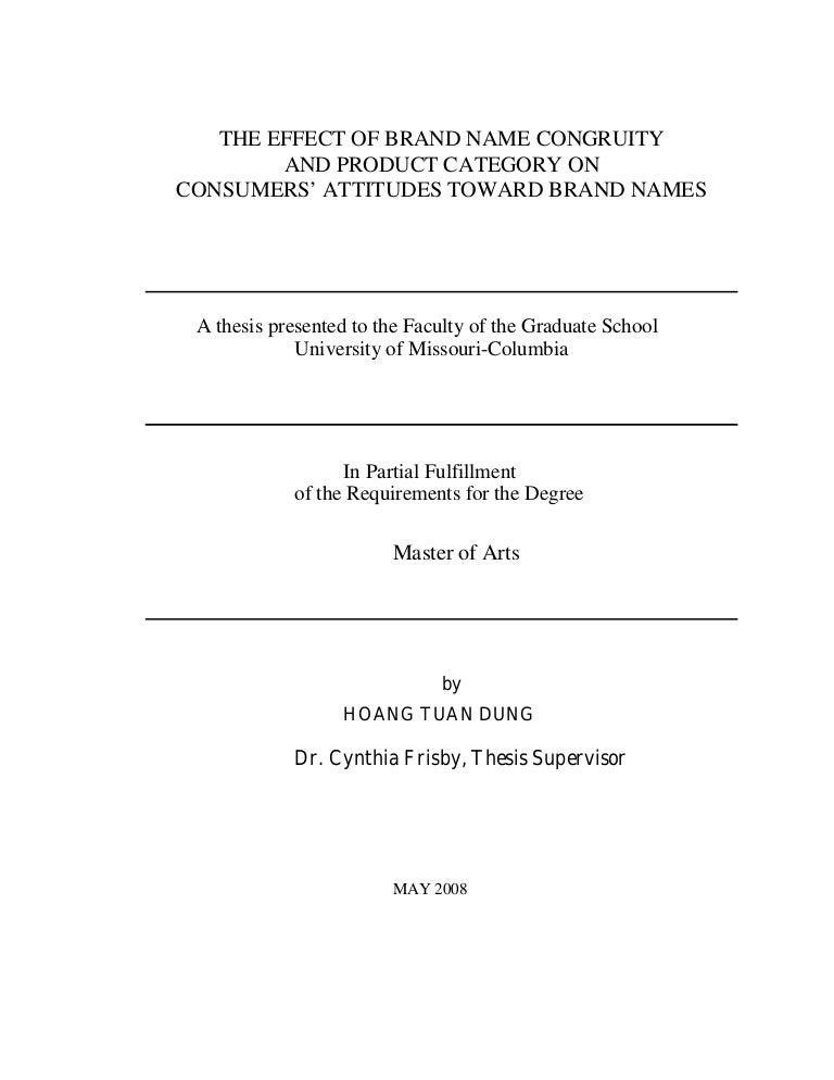 Branding dissertation