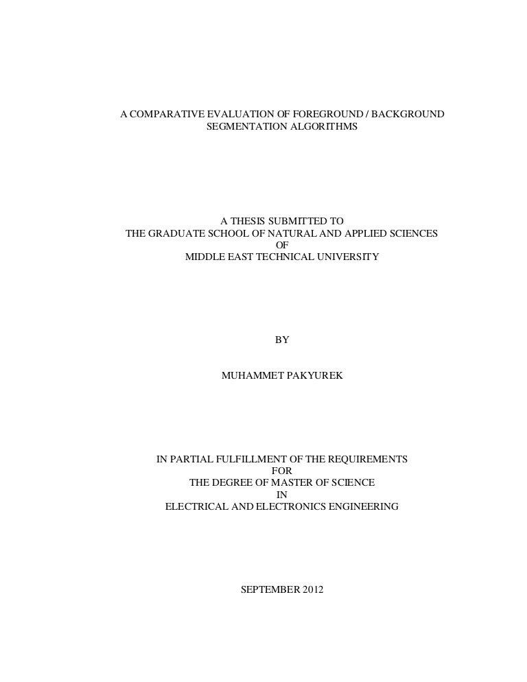 Purchase a master's thesis