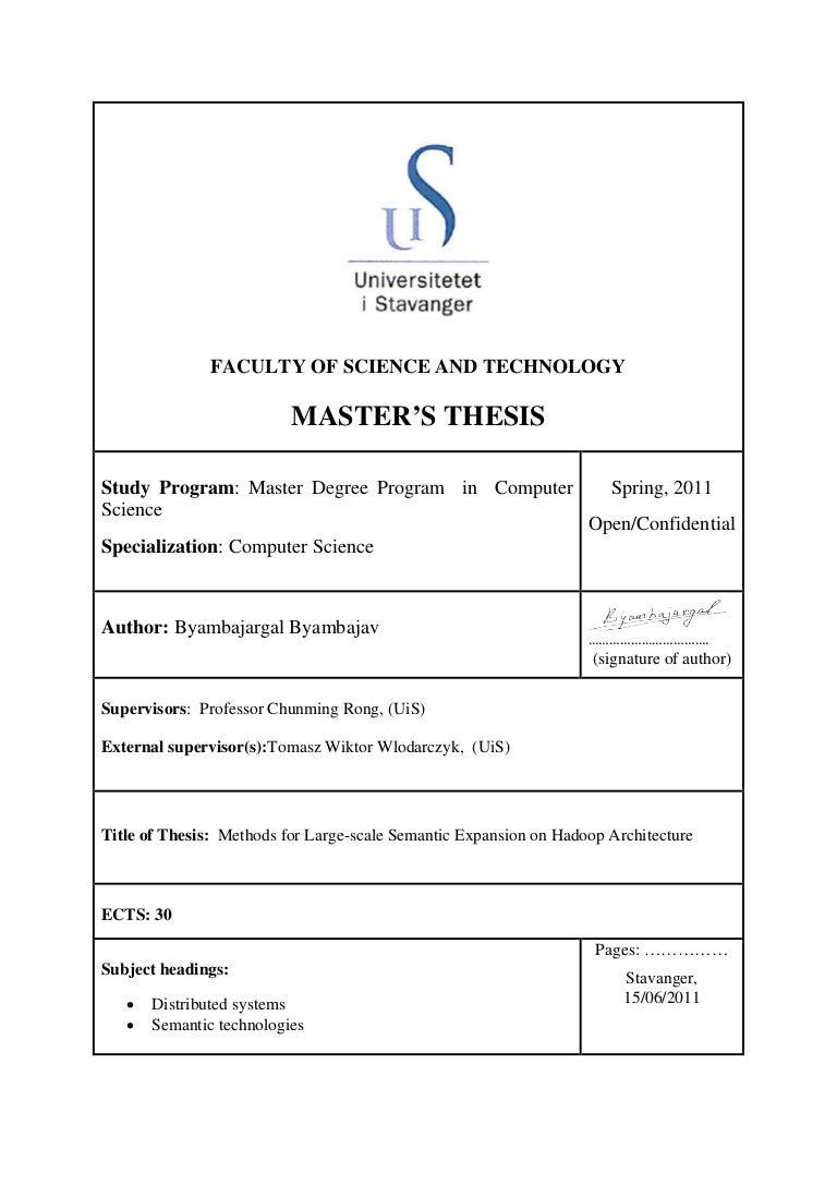 Master thesis sram