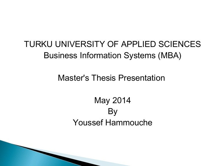 Master thesis com