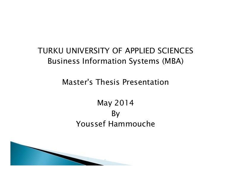 Master thesis 2007