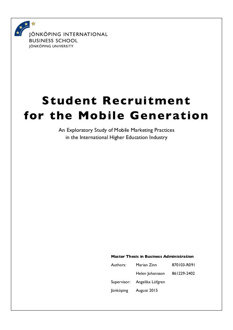 master thesis mobile marketing Sample thesis/dissertation approval (tda) form master's students  number of signatures required for  master's students = student's adviser (at least one signature in the.
