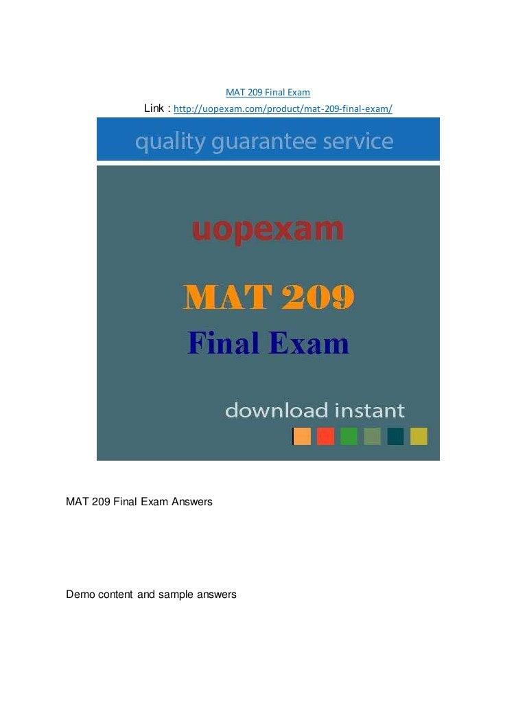 Mat 209 Final Exam 2015 Version border=