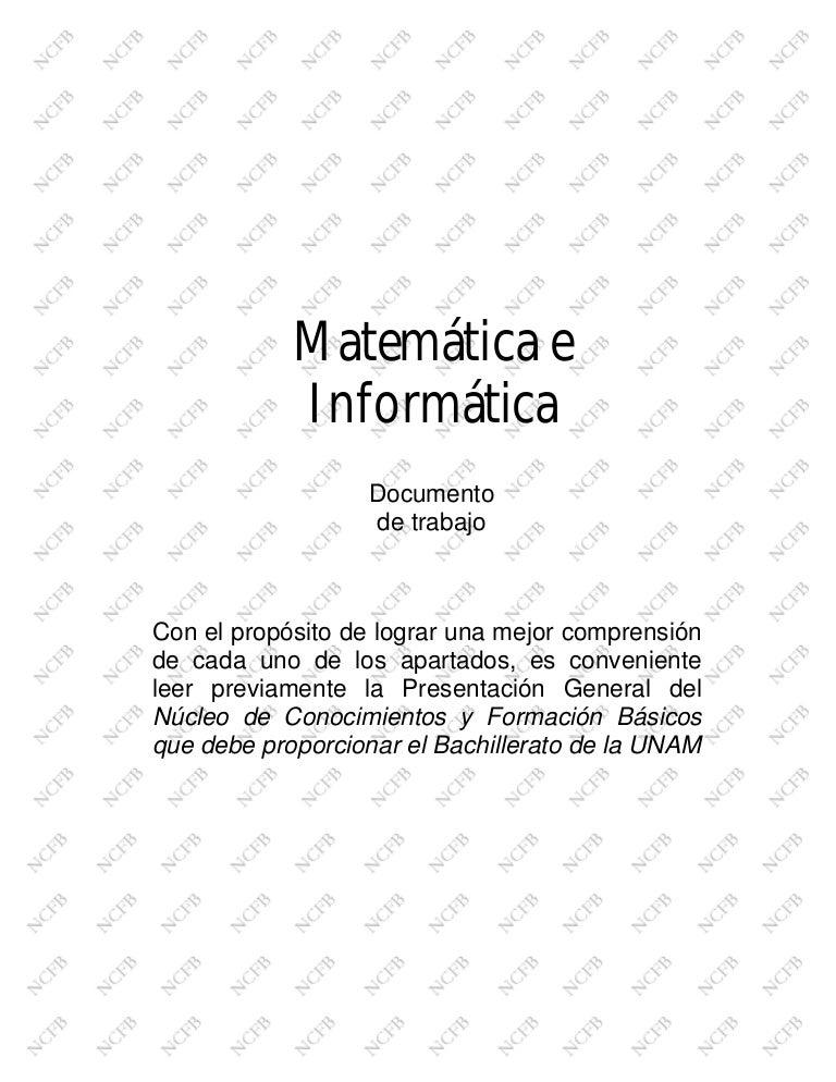 Matematica e informatica