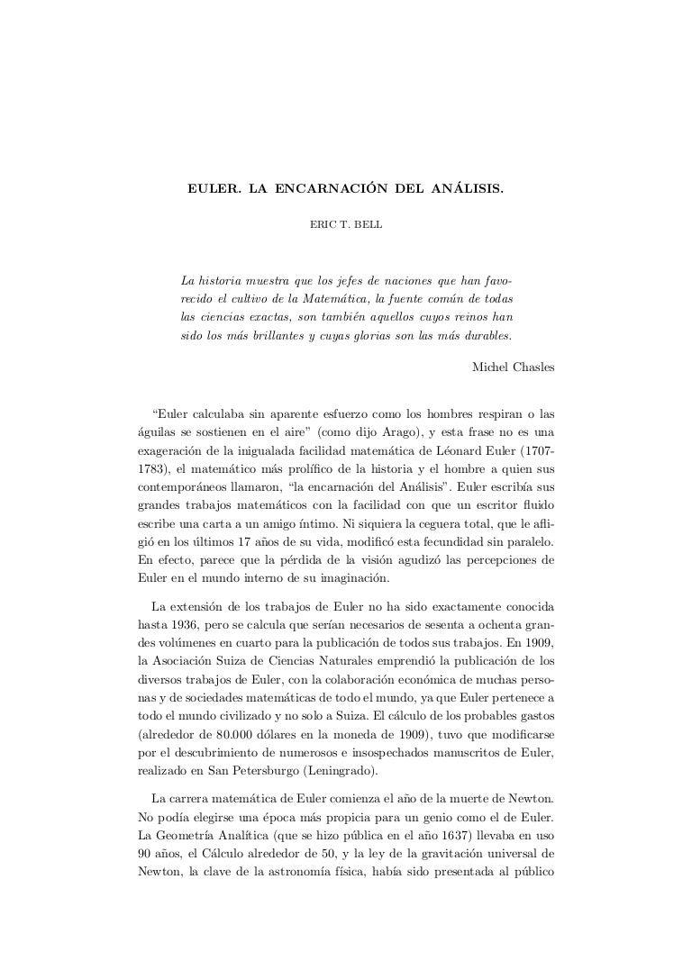 Matematicas].euler.la.encarnacion.del.analisis.(eric.t.bell)[mad mat…