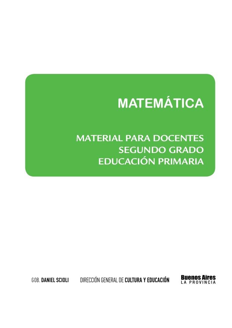Matematica segundo grado