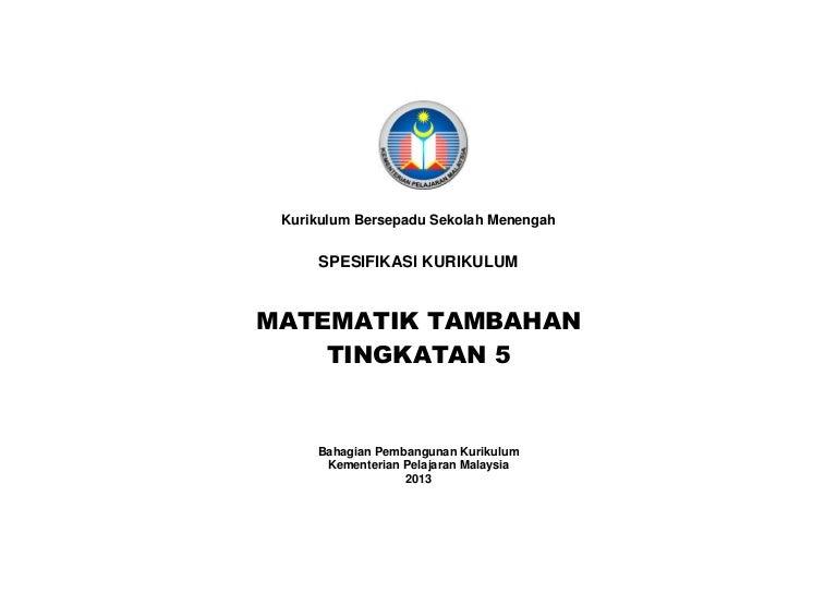 Matematik Tambahan Tingkatan 5 Buku Teks