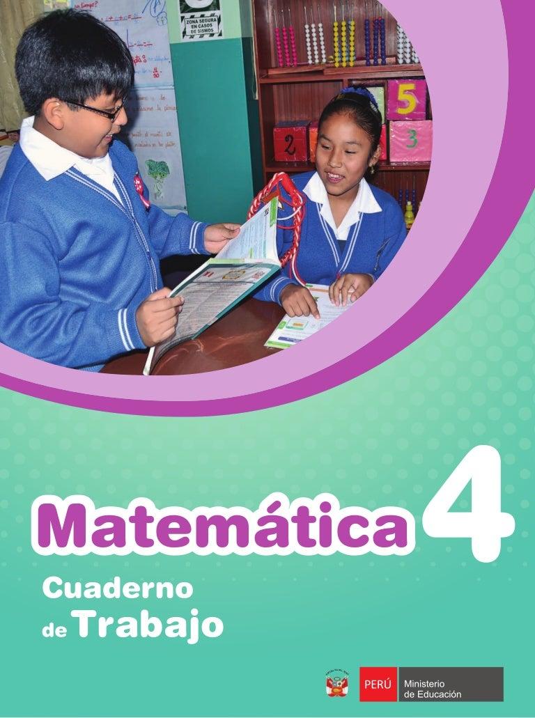 Matemática cuaderno de trabajo 4 bcd26732cbc92