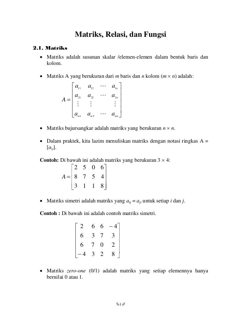 Matematika diskrit matriks relasi danfungsi ccuart Image collections