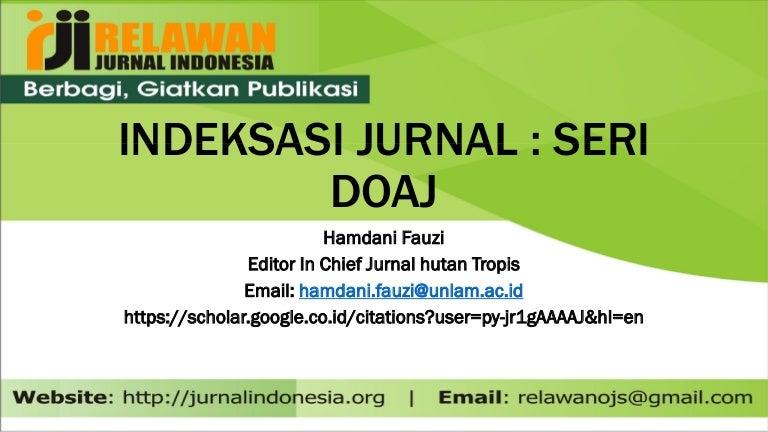 Indeksasi Doaj Untuk Jurnal Berbasis Ojs