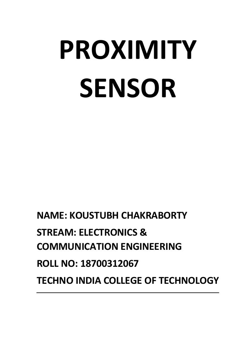 A Report On Proximity Sensor Schematic Diagram Of The Detector Circuit We Will Build