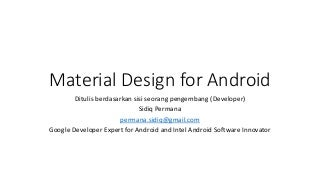 Material design for android (Diggest)