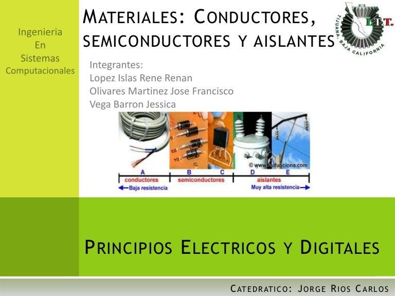 Conductores semiconductores y aislantes - Materiales aislantes termicos ...