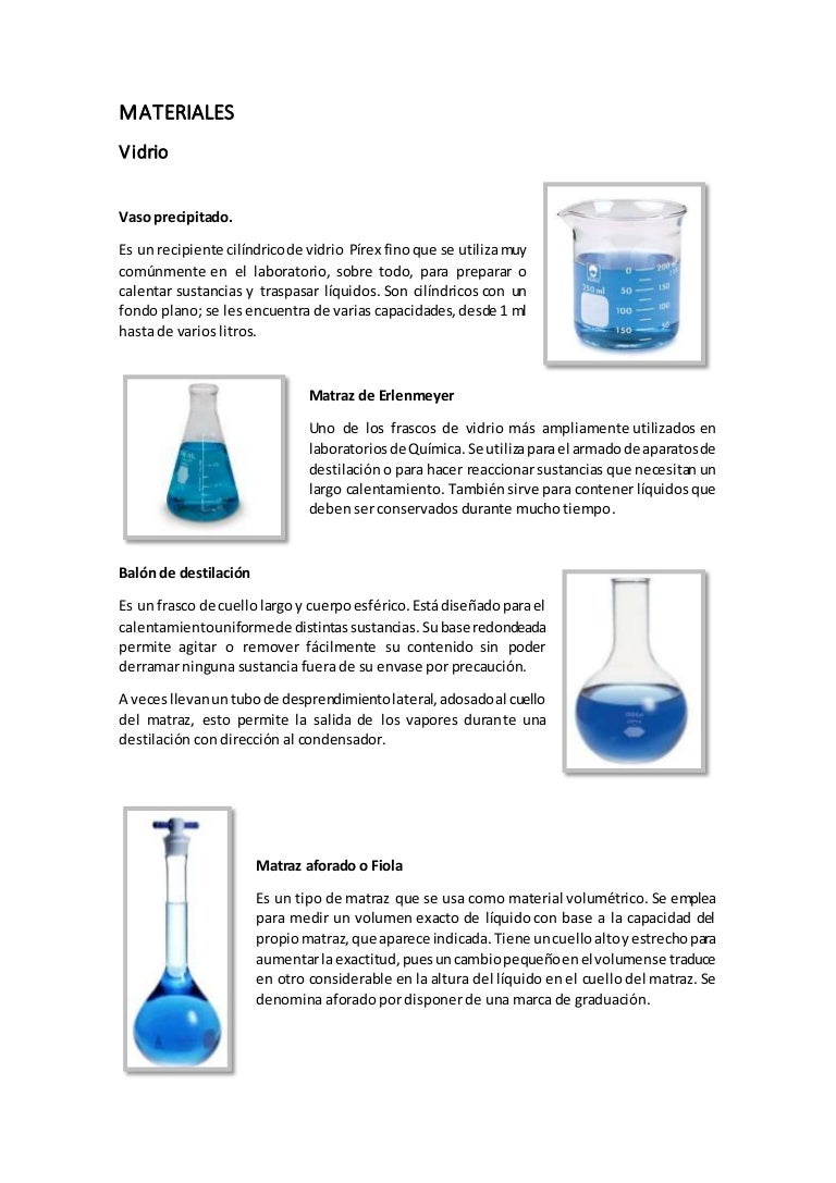 Materiales De Laboratorio De Quimica