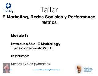 Materiales taller e marketing modulo i itesm
