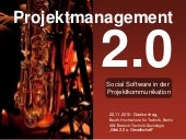 Projektmanagement 2.0: Social Software für die Projektkommunikation