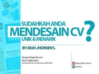 Tips Membuat Curriculum Vitae Unik & Menarik | How to create Best Curriculum Vitae