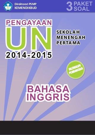 Materi Pengayaan UN Bahasa Inggris SMP/MTs 2015