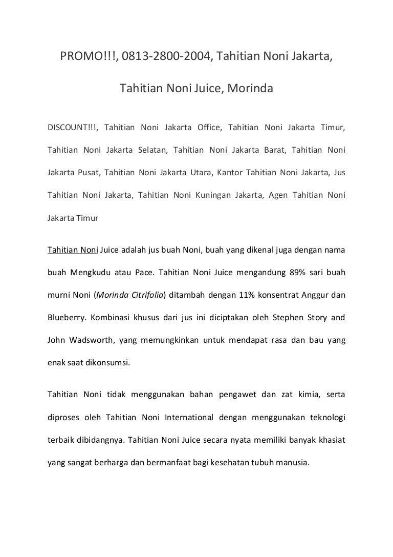 Promo 0813 2800 2004 Tahitian Noni Jakarta Juice 1 Botol
