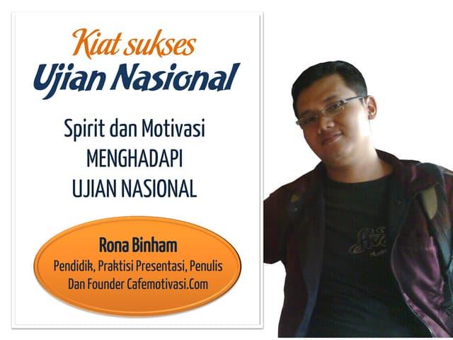 Materi training motivasi ujian nasional