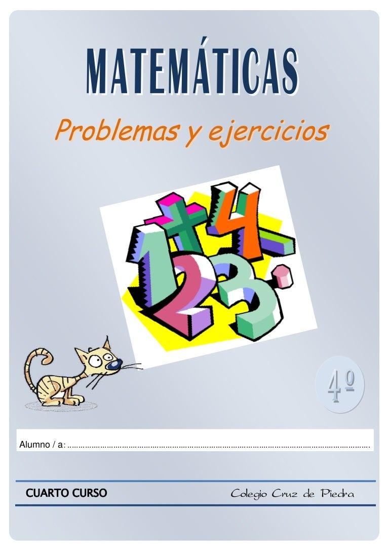 Matematicas De 4º De Primaria Problemas Y Ejercicios