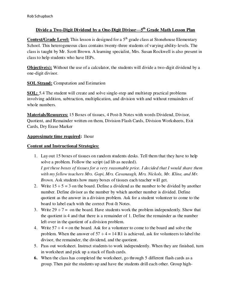 Mathlesson Plan1
