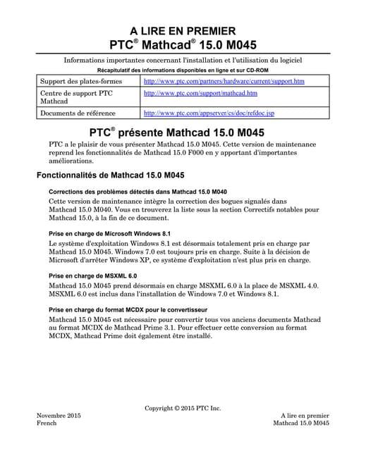 Mathcad 15 m045 à lire en premier