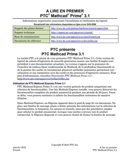 Mathcad Prime 3.1   à lire en premier
